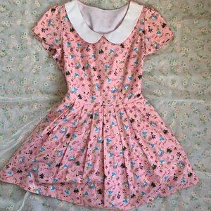 Alice in Wonderland print Bonne Chance dress